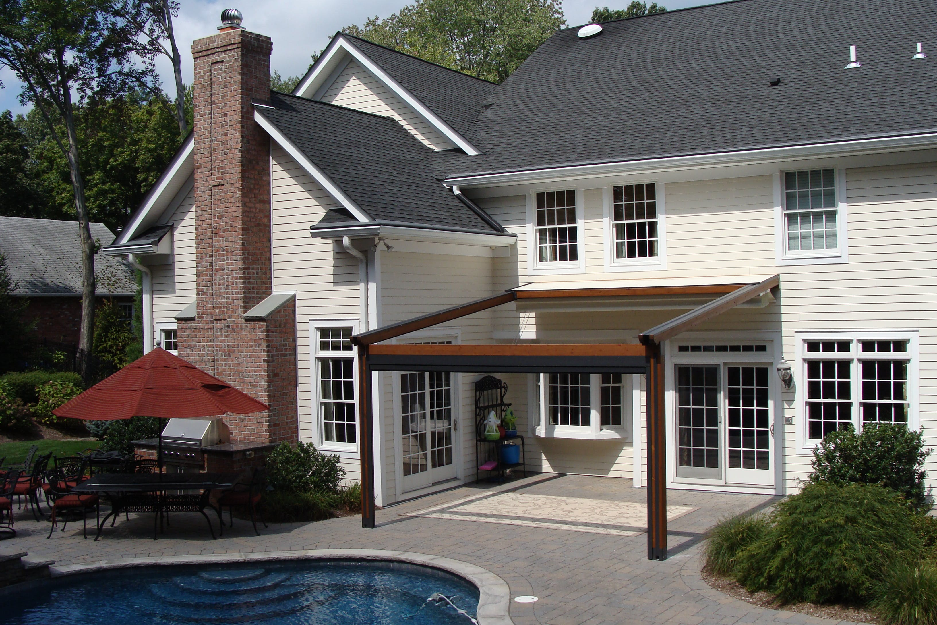 awnings tube it in be retractable nj awning your fully closed is pin a can when