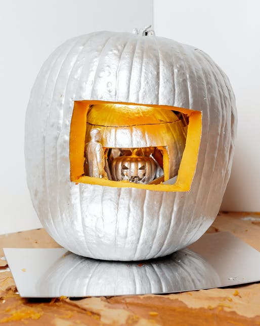 WEISS/MANFREDI took home The Totem prize for their Inception-inspired pumpkin-within-a-pumpkin-within-a-pumpkin. Photo by Erik Barden.