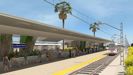 Los Angeles Light Rail Station