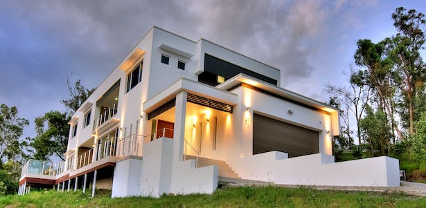 Modern house design blueprint designs archinect for Split level project homes