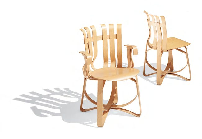 Frank Gehry's (delicate) bentwood chairs.