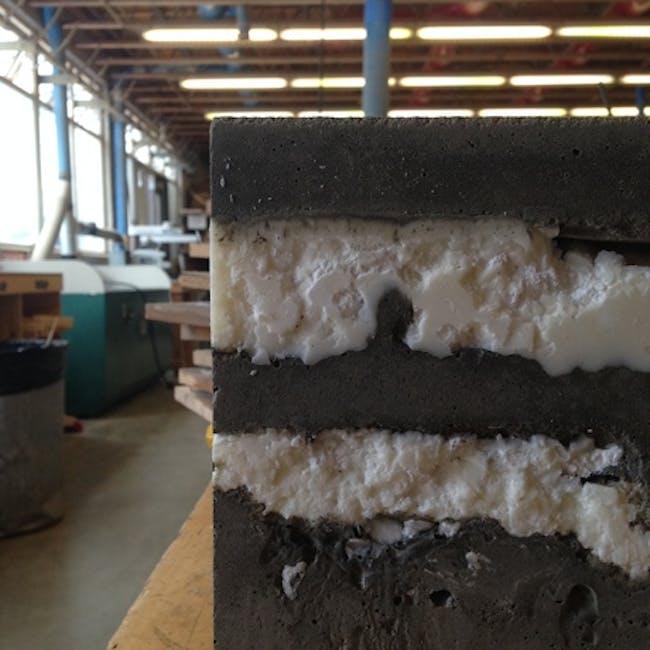 Concrete and Wax Material Study via Rachel Martinelli