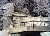 Rendering of Falling Water, Frank Lloyd Wright