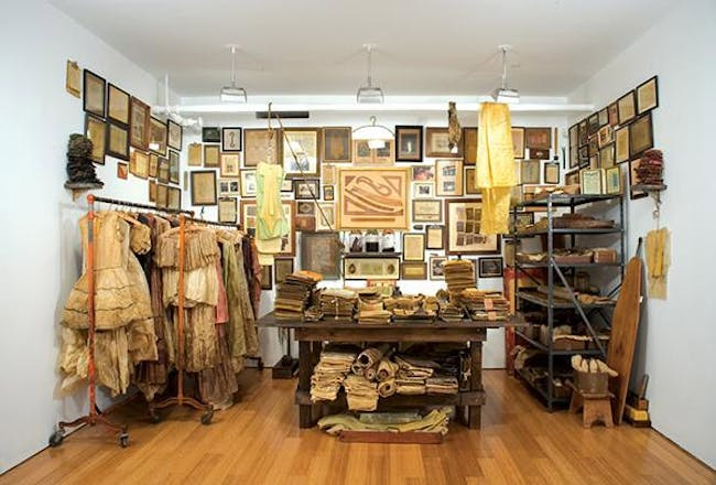 J. Morgan Puett: Wholesale: To The Trade Only (J. Morgan Puett, Inc. Archive 1984-2001), entire archive drenched in beeswax, 2006; photo credit the artist