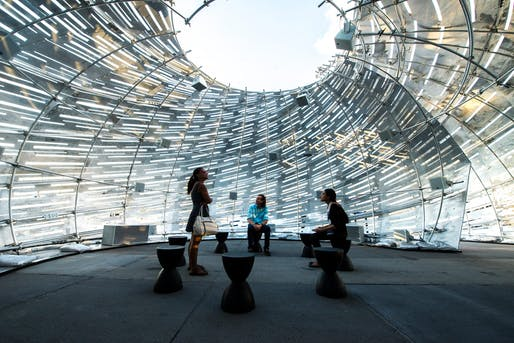 The NASA Orbit Pavilion, now on display at the Huntington Library.