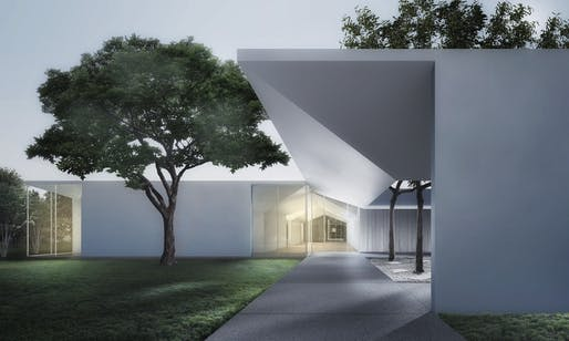 Menil Drawing Institute and Study Center, Houston TX (Johnston Marklee). Photo courtesy of Cal Poly Pomona.