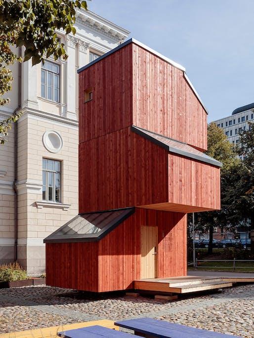 Commended: Kokoon by Helsinki's Aalto University Wood Programme, Finland. Photo: Anne Kinnunen.