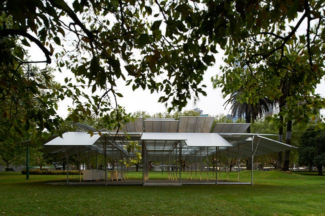 MPavilion 2014 by Sean Godsell. Image Credit: Earl Carter