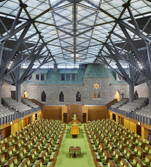 Awards of Excellence – Innovation in Architecture: West Block Rehabilitation Project. Credit: Tom Arban.