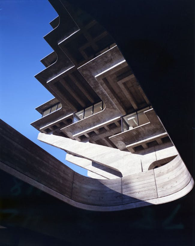 The Geisel Library at UC San Diego by William Pereira. Credit: Wayne Thom/WUHO Gallery