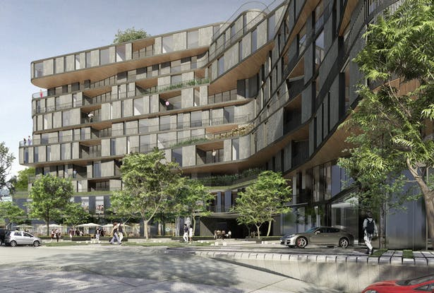 Exterior View - Illustration by rojkind arquitectos©