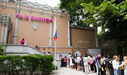 "Critical irony in Russia's special mention ""Fair Enough"" pavilion in 2014 Venice Biennale"