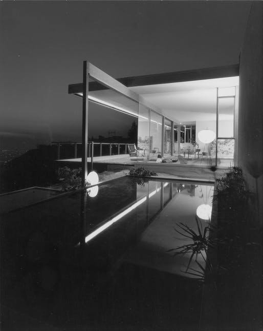 Julius Shulman's 'Chuey House' Los Angeles, CA,1956. Image: Julius Shulman Photography Archive.