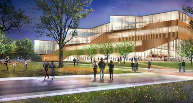 Rendering of the new CAED. Photo: kent.edu