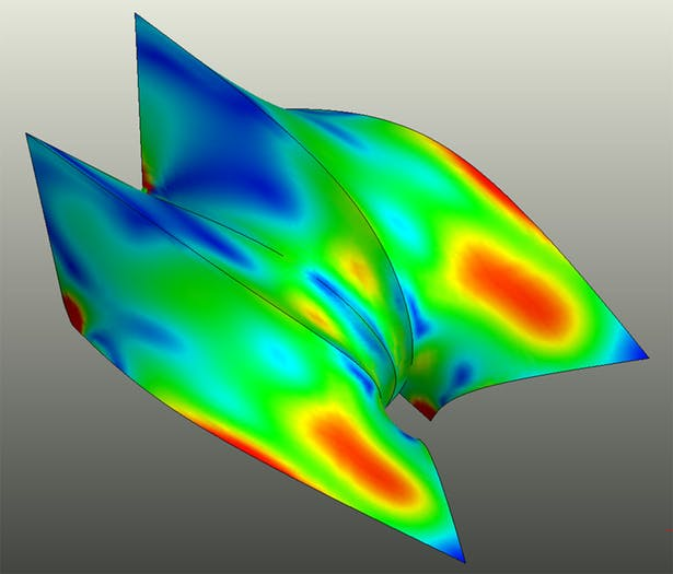 Zaha Hadid Concrete Shell - FEA Results (CRAFT | Engineering Studio)