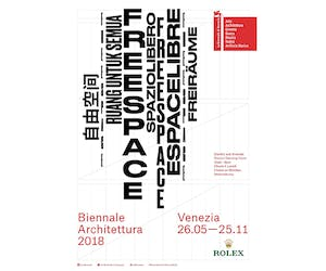 Biennale Architettura 2018: 16th International Architecture Exhibition 'FREESPACE'