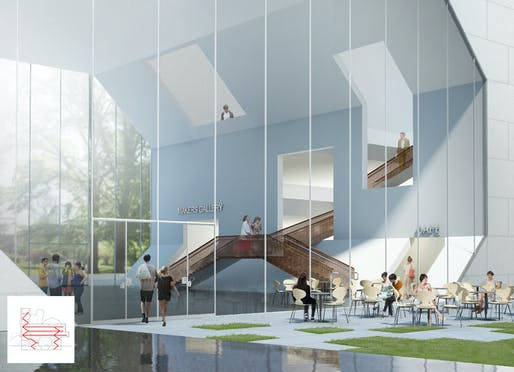 Centre for Creative Design foyer. Image © Steven Holl Architects.