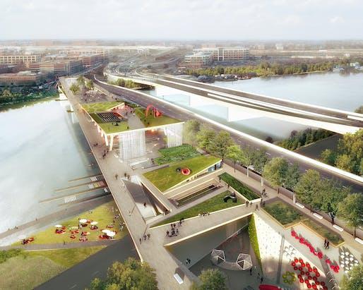 Navy Yard View. Image (c) OMA + OLIN.