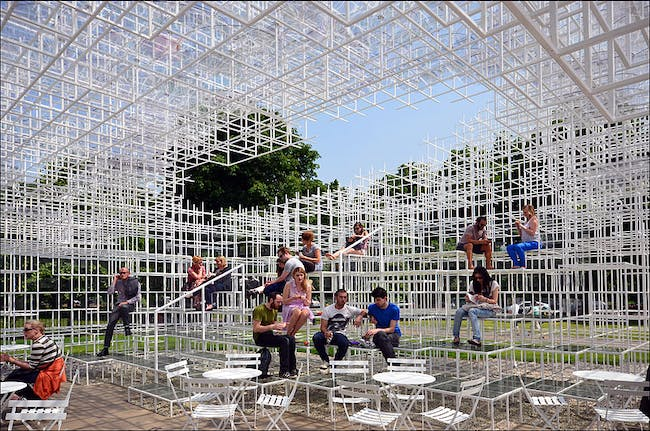 Serpentine Gallery Pavilion 2013 by Sou Fujimoto from Wikimedia Commons