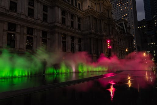 ​Award of Merit: Janet Echelman's Pulse at Dilworth Park | Philadelphia, PA. Photo: Sean O'Neill.