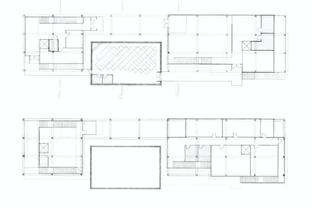 Plan, ground floor and 1st floor