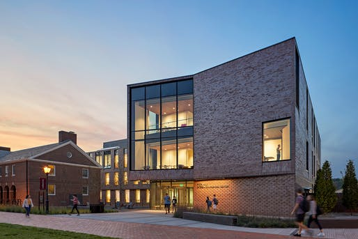 Lafayette College Rockwell Integrated Sciences Center. Photo: Robert Benson.