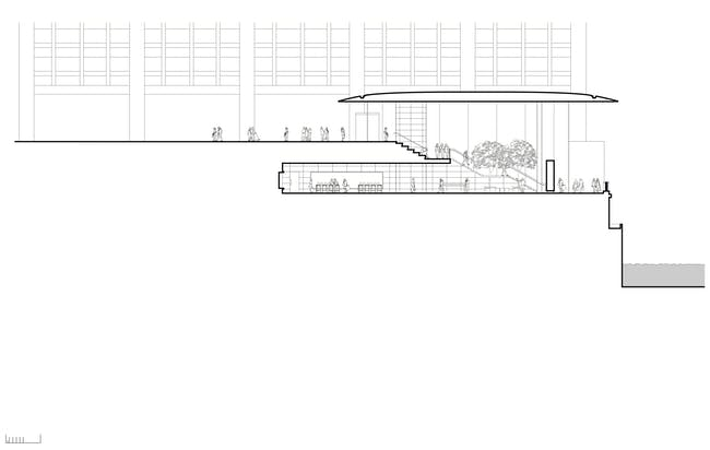Section Drawing. Apple Store, Chicago, (c) Foster + Partners