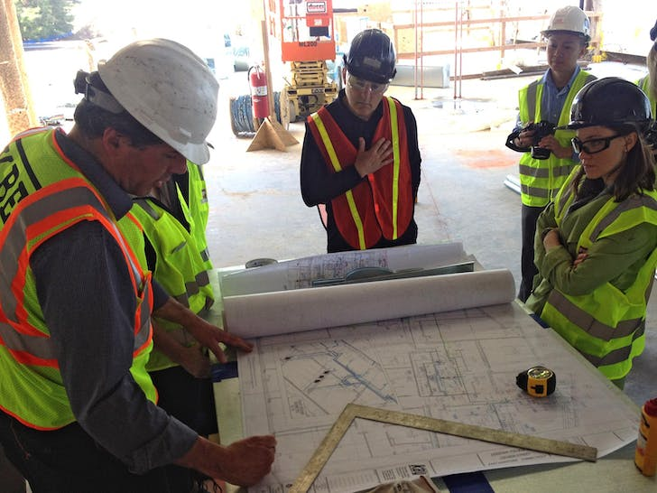 Site visit to CREC Discovery Academy. Photo courtesy of the firm.