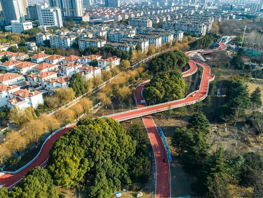 Built Large Shortlist - Project: Jiangyin Greenway Loop | Urban Necklace. Location: Jiangyin, P.R. China. Entrant: BAU. Image Credit: BAU.