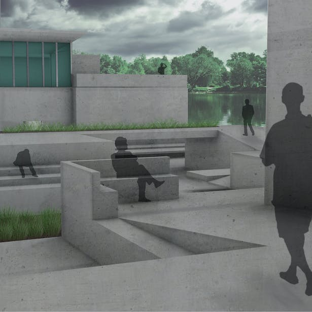 Perspective Rendering of Community Center
