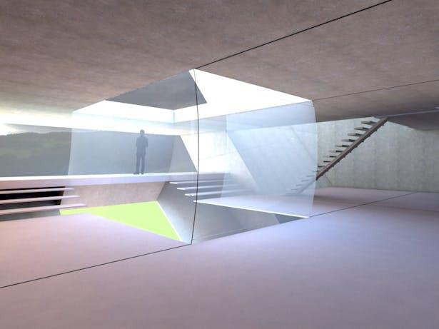 Interior light well render