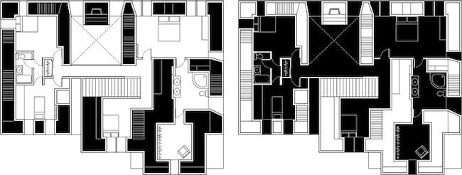Level 2: [Left] Suburb Family, [Right] Hoarder