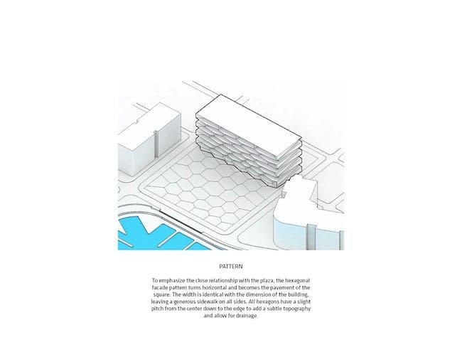 Diagram - Honeycomb by BIG + HKS + MDA. Image courtesy of BIG.