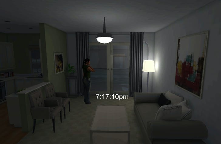 One of the recreated apartments from the Florida gated community where Martin was shot. Credit: Emblematic Group