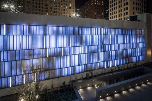 ​Citation for Interactive Façade: Sensing Change | Chicago, IL. Photo: Caleb Tkach, AIAP.