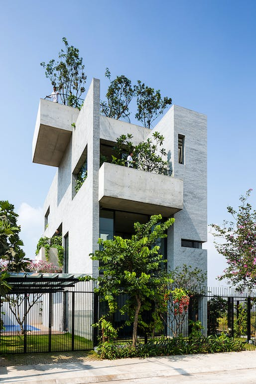 House - Completed Buildings Winner: Vo Trong Nghia Architects, Binh House, Ho Chi Minh City, Vietnam.