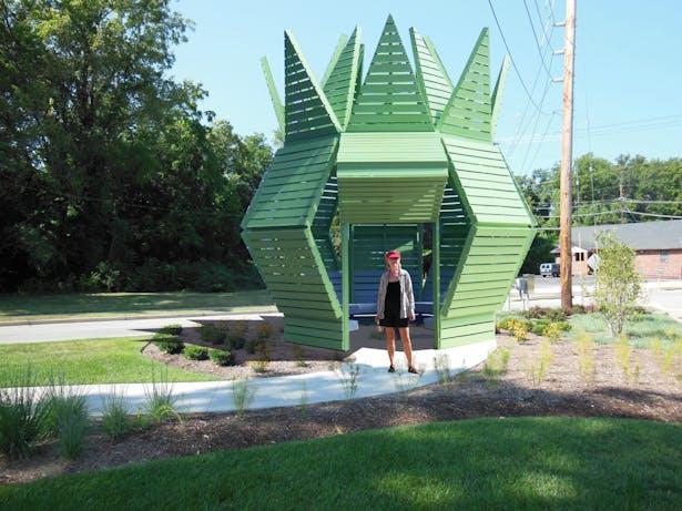 A Public Art Gathering Place Pavilion