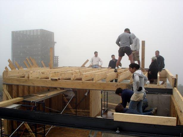 Mezzanine Wood Floor Framing