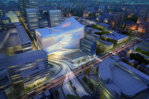 Dance Music Centre, The Hague. Image courtesy of Zaha Hadid Architects.
