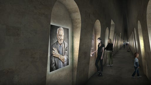 Hall of Voices. © Adjaye Associates and Ron Arad Architects