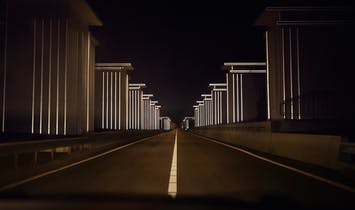 Light artist Daan Roosegaarde gives 85-year-old Dutch dike a futuristic upgrade