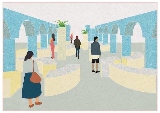 Communal Courtyard: Ilaria Elena Catalano, Carla Motola, Neba Sere - WUH Architecture: London, UK