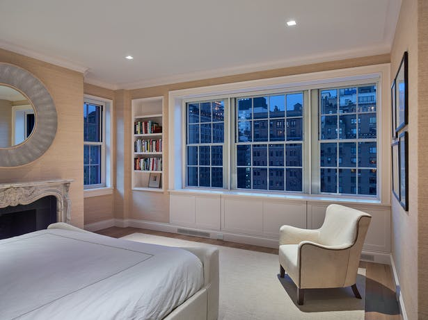 The Master Bedroom has stunning city views.