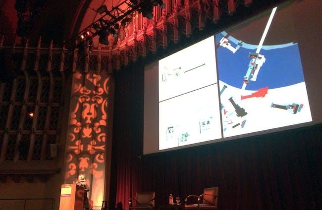 Hadid's keynote presentation. Photo by Anthony Morey.