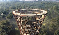 Check out Effekt's Camp Adventure Forest Tower, Denmark's answer to NYC's Vessel
