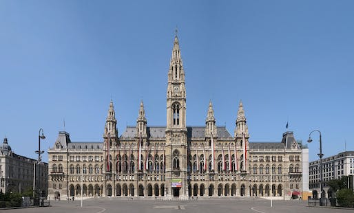 Vienna's mighty City Hall. Photo: Thomas Ledl/Wikipedia.