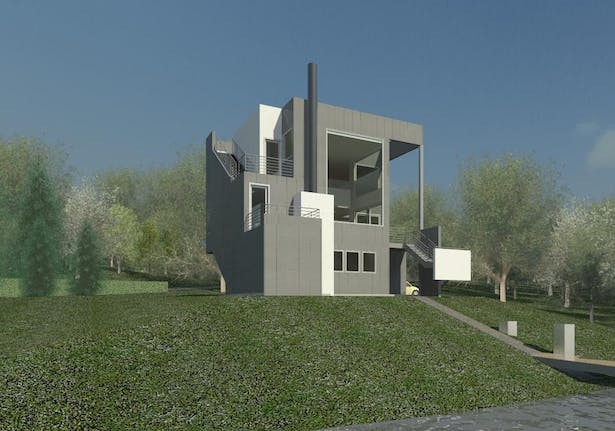 Small Modern House 3 Clifford O. Reid Architect All Rights Reserved