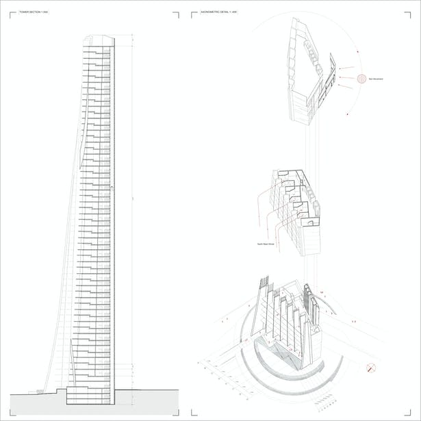 Section & Exploded Axonometric