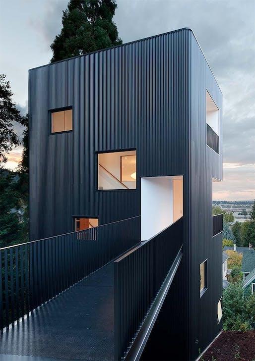Tower House by Waechter Architecture. Photo: Waechter Architecture.