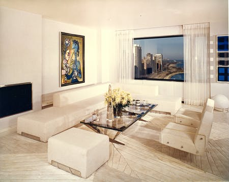 View of the Sigmund E. Edelstone Apartment, 1972, Chicago, Illinois. Photograph by Leland Y. Lee from Arthur Elrod by Adele Cygelman, reprinted by permission of Gibbs Smith.